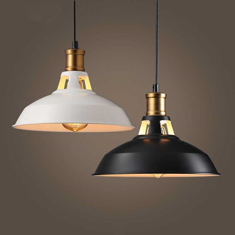 Industrial Pendant Lighting Custom E27 Kitchen Black Loft Metal Lamp OEM Restaurant Industrial Vintage Pendant Light