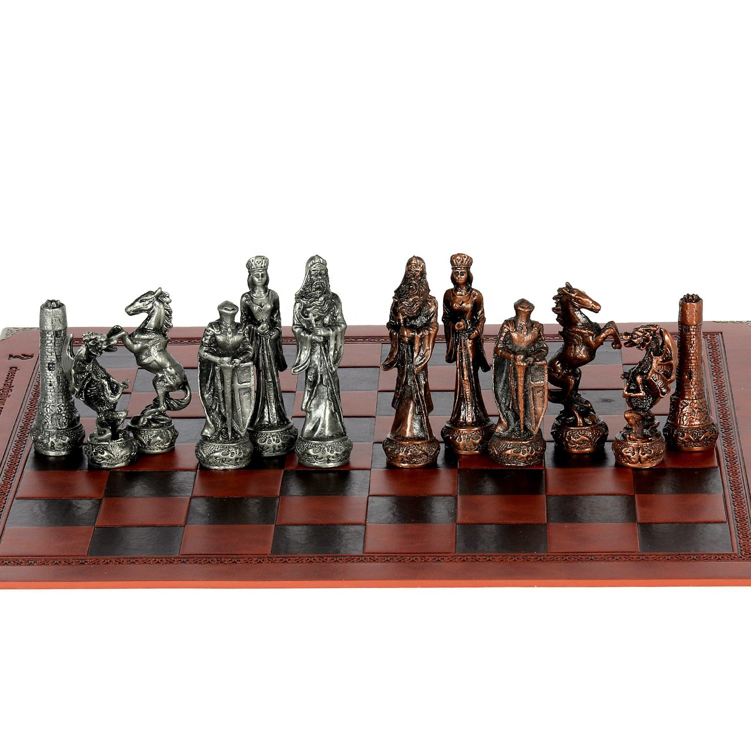 Medieval Theme chess pieces set