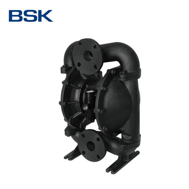 Customized 2 Inch High Pressure Cast Iron POM Seat Material Double Diaphragm Pump