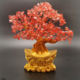 Wholesale natural handmade red quartz crystal fortune ingot tree healing stones for decoration