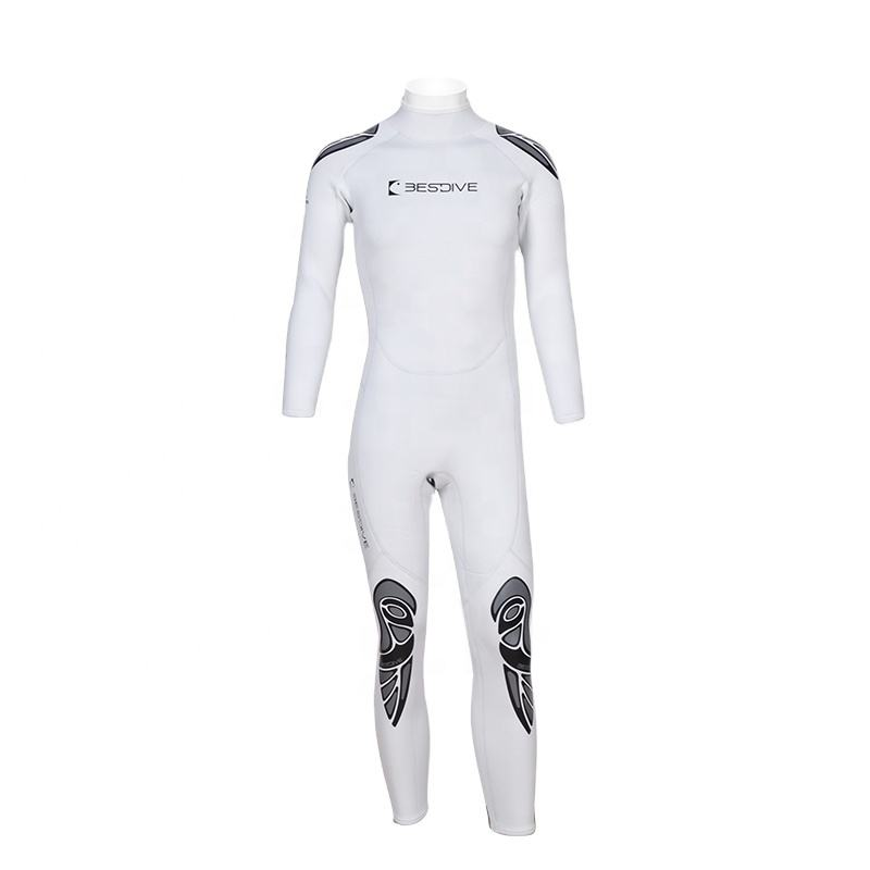 BESTDIVE Yamamoto Neoprene 1.5-3mm one-piece Pearl-white Mens Wetsuit for Free Diving and Scuba Diving