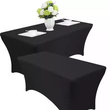 Factory White 6ft/8ft Stretch Spandex Table Cover Spandex Wedding Tablecloths Lycra Spandex Table Covers