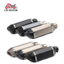 High quality stainless steel motorcycle exhaust  370mm  570mm for 150cc 250cc 300cc 600cc motorcycle exhaust