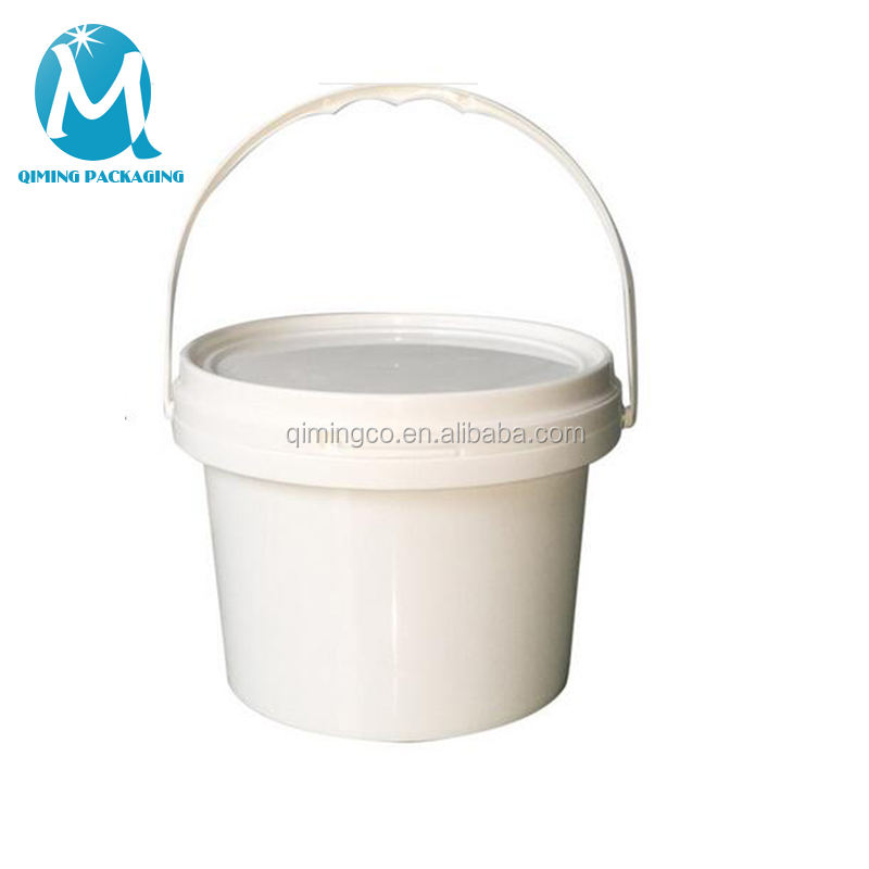 32oz disposable clear plastic ice cream round pail food grade bucket with lid