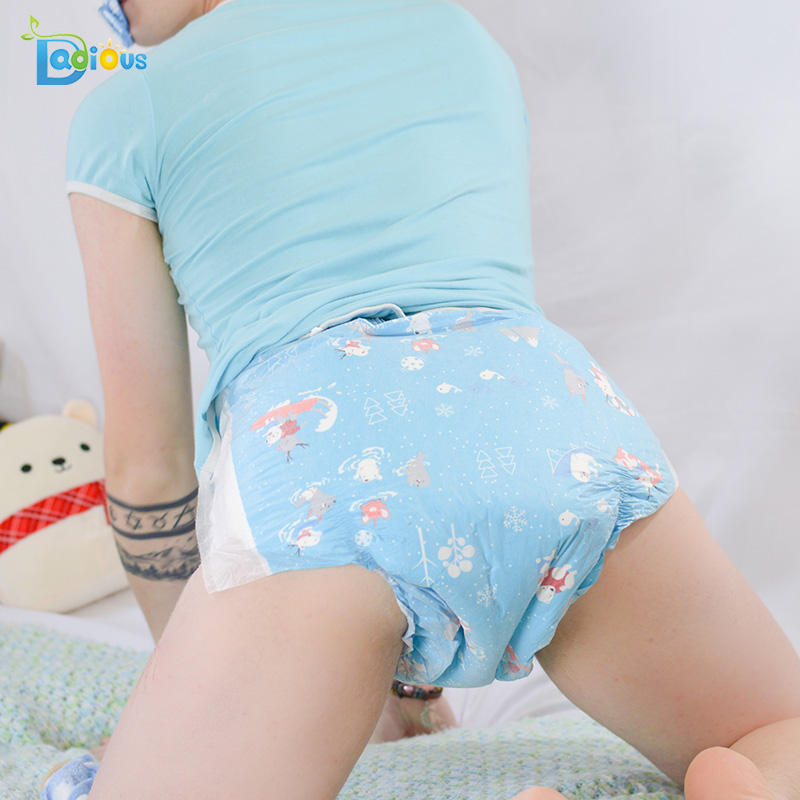 6000ML rainbow week diaper Dadious new design ABDL adult diaper for women and men