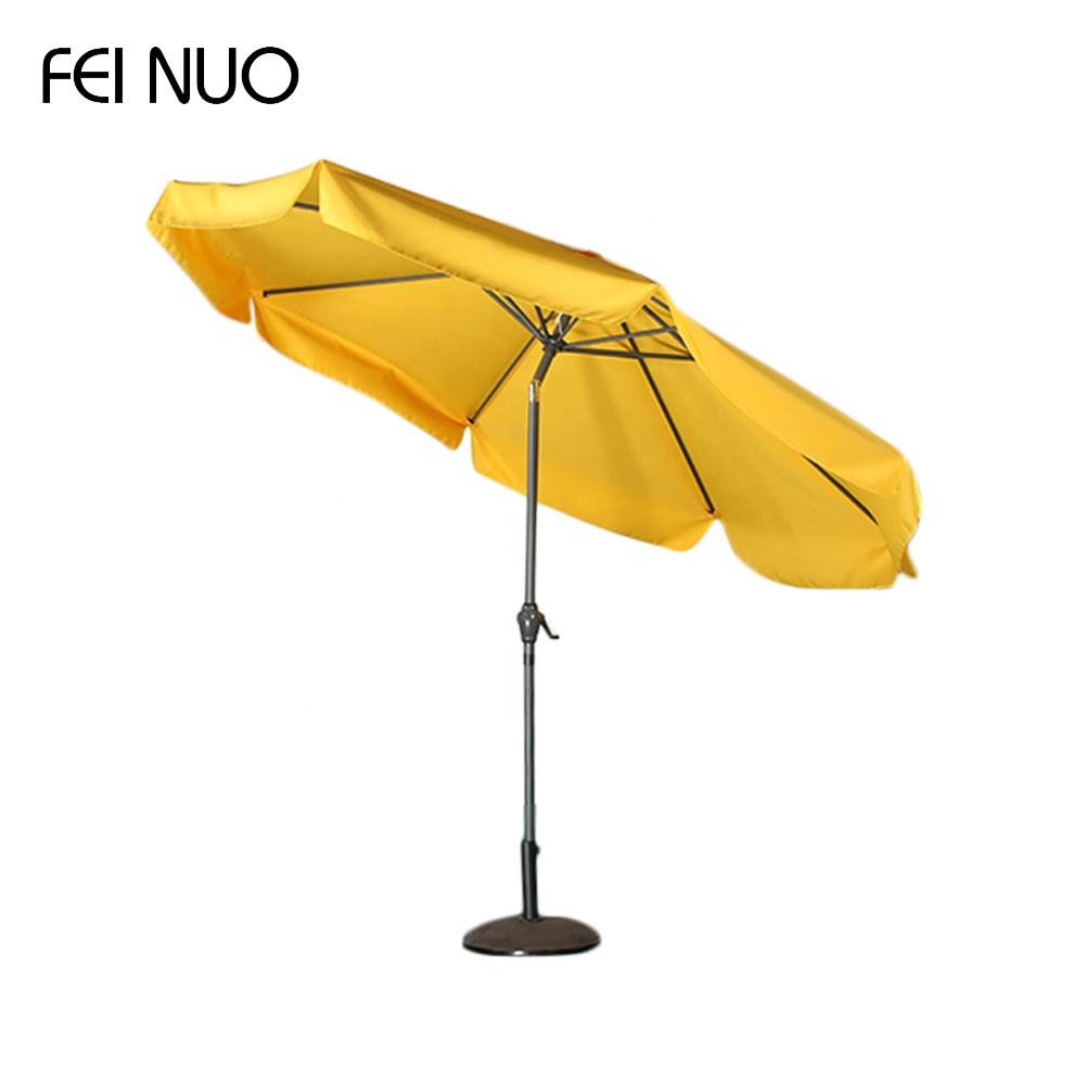 Best price high quality branded big size tilt crank strong balcony garden umbrella for patio