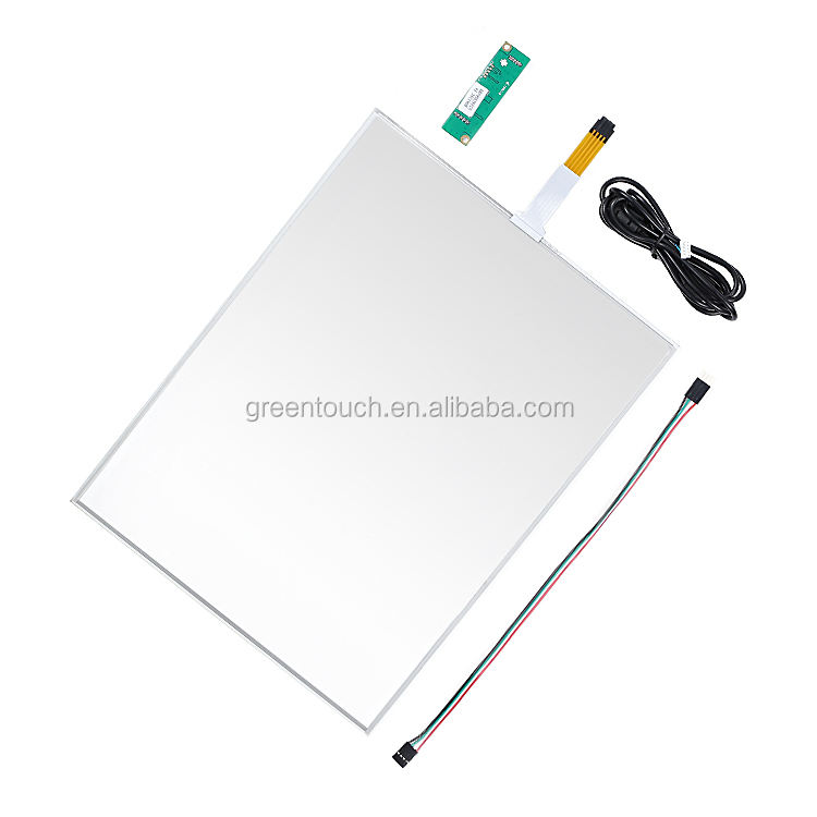 GT-4W-15A-1 15 inch 4wire Resistive touch screen panel met usb controller