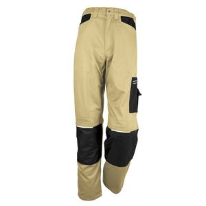Custom work trousers workwear mens polyester cotton twill track khaki tactical cargo pants