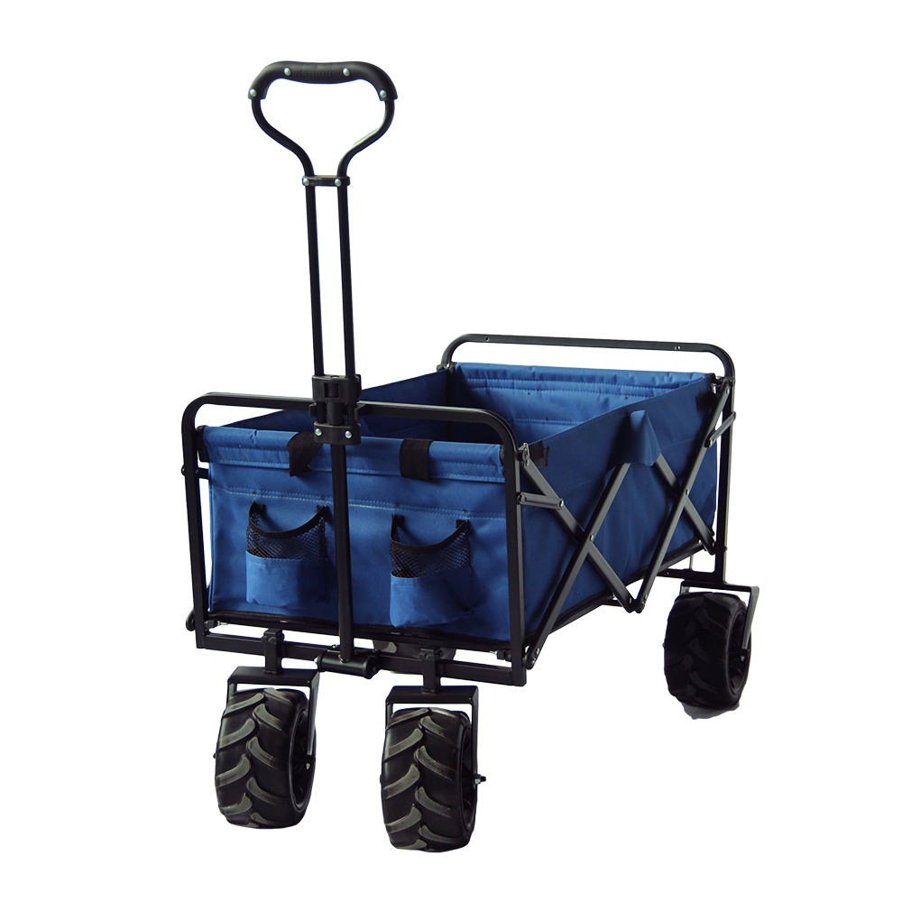 Cheap Outdoor Garden Camping Foldable Wagon Cart Folding Beach Trolley Cart