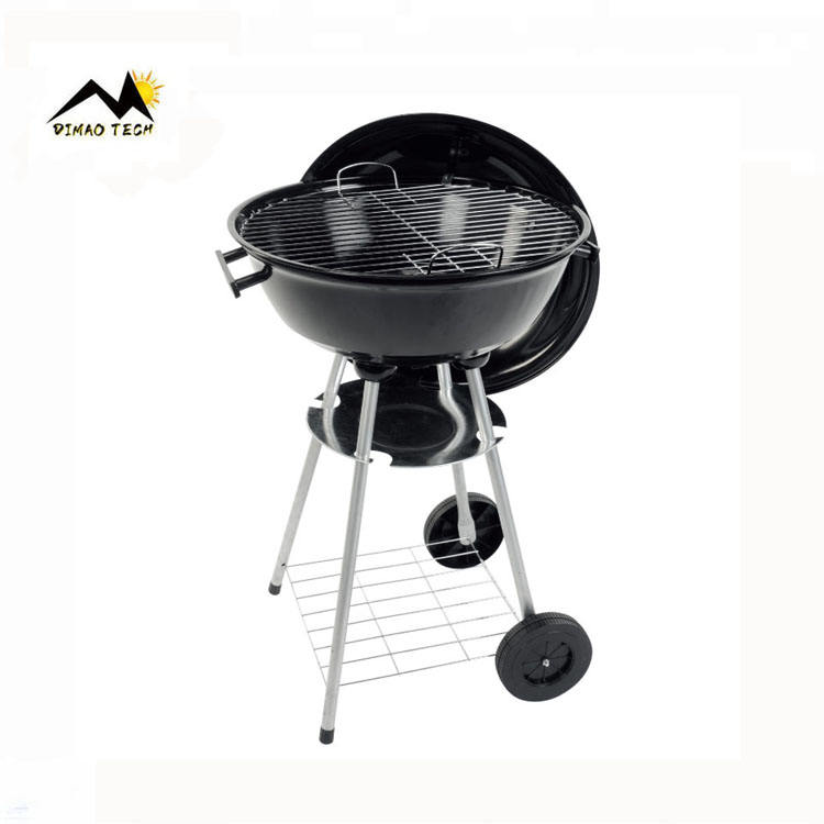 "Portable Smokeless 18"" Kettle Outdoor Camping Mini Charcoal Balcony Bbq Grill Barbeque Grill Barbecue Grill with Wheel"