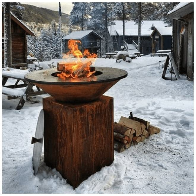 Hout & <span class=keywords><strong>Houtskool</strong></span> Ontslagen Barbecue/<span class=keywords><strong>BBQ</strong></span>/Plancha/Grill in Corten Staal