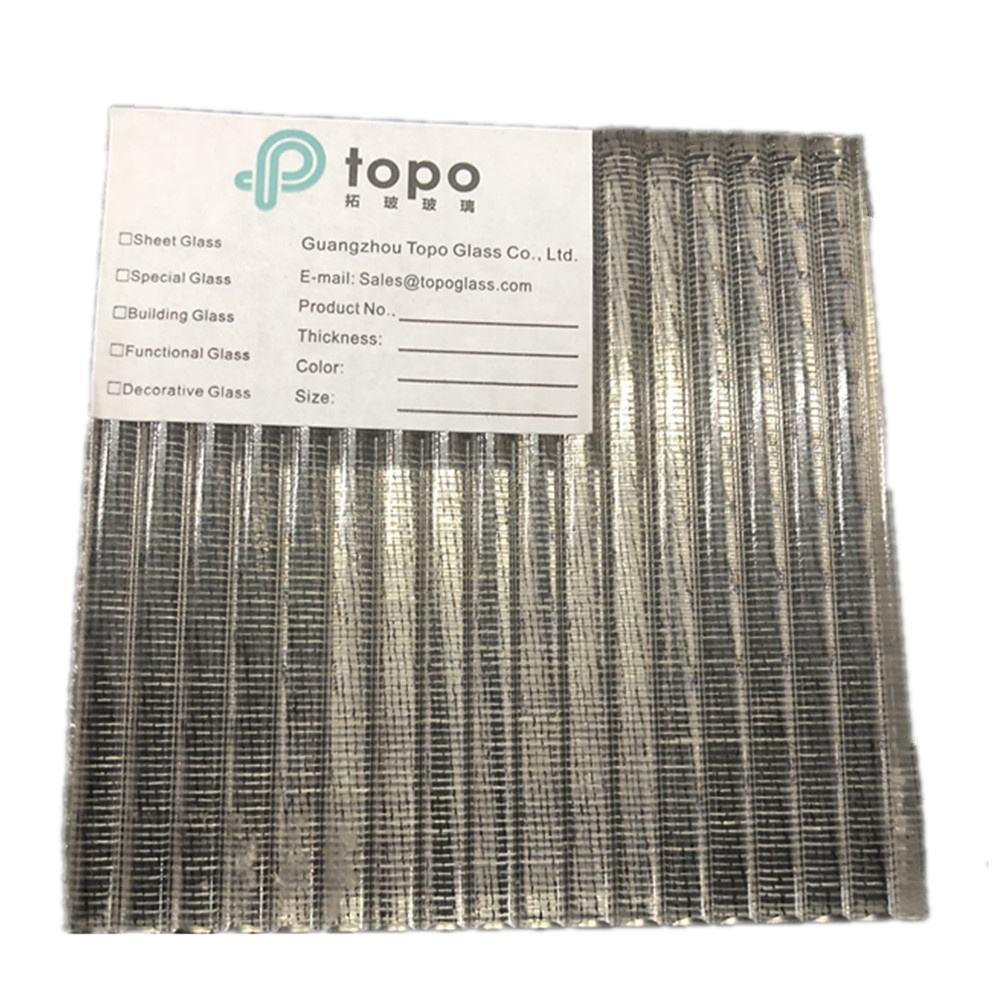 직업적인 철망사 적층 안전 유선 유리 홈 장식 (PLW-TP)