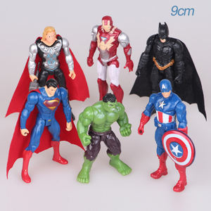 6Pcs Super Hero Thor Superman Man Action Figures Doll Ornaments Gift Game Movie Toy