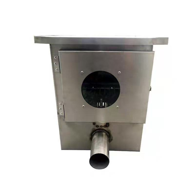 Stainless steel pig feed transport single outlet hopper for pig automatic feeding system upper feed boot