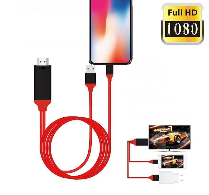 2 M <span class=keywords><strong>USB</strong></span> di Tipo C Per iphone 8 pin A <span class=keywords><strong>HDMI</strong></span> audio vedio HDTV del <span class=keywords><strong>cavo</strong></span> AV Digitale Smart Adattatore del Convertitore per iphone samsung huawei