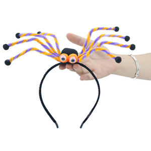 2019 funny Halloween long legs spider head bands kids spoof hair accessories for children Head buckle party decoration