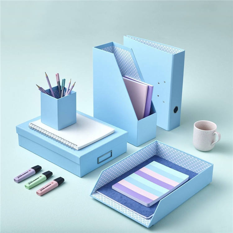 Wholesale school office custom handmade graceful eco-friendly paper 5pcs stationery set