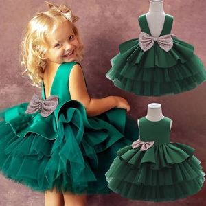 2020 New Sequin Newborn Girl Party Dress Puffy Ball Gown Lovely Girl Birthday Tutu Dress L1966XZ