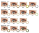 Lenses Cosmetic Contact Brown Brown Contact Lenses Soft Eye Lenses Beauty Color Cosmetic Contact Lens Wildcat Brown Good Quality Contact Lens