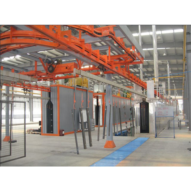 Full automatic vertical robot aluminum powder coating line powder coating production line