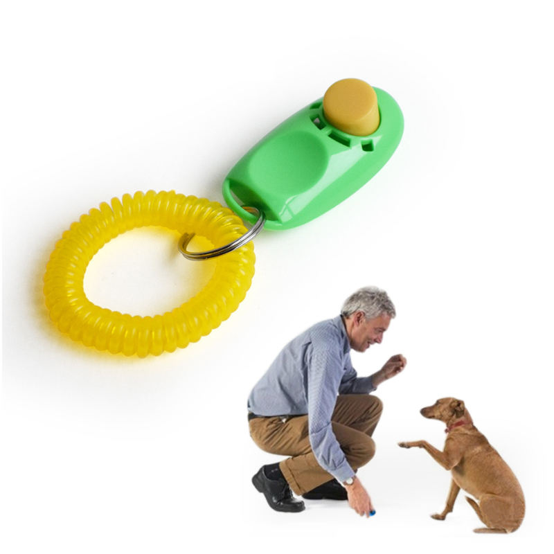 Eco friendly ABS plastic 2 in 1 dog training whistle , stop barking whistle with pet dog training clicker