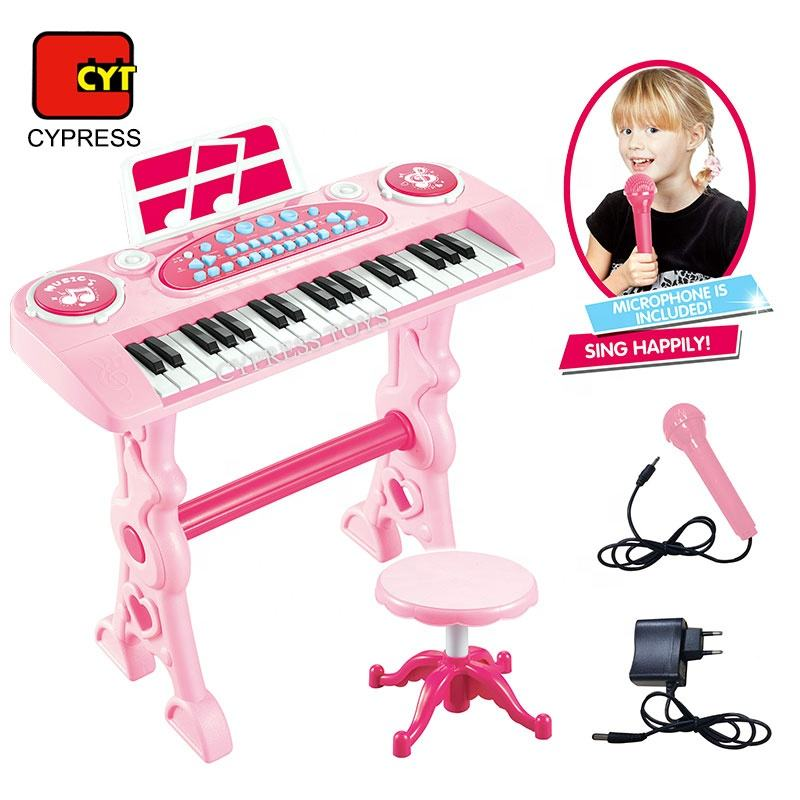 Wholesale Children Pink Keyboard Piano Toy Electronic Organ