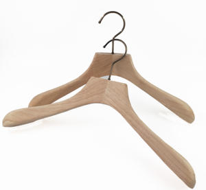 Natural high end custom wooden suits and coat hanger