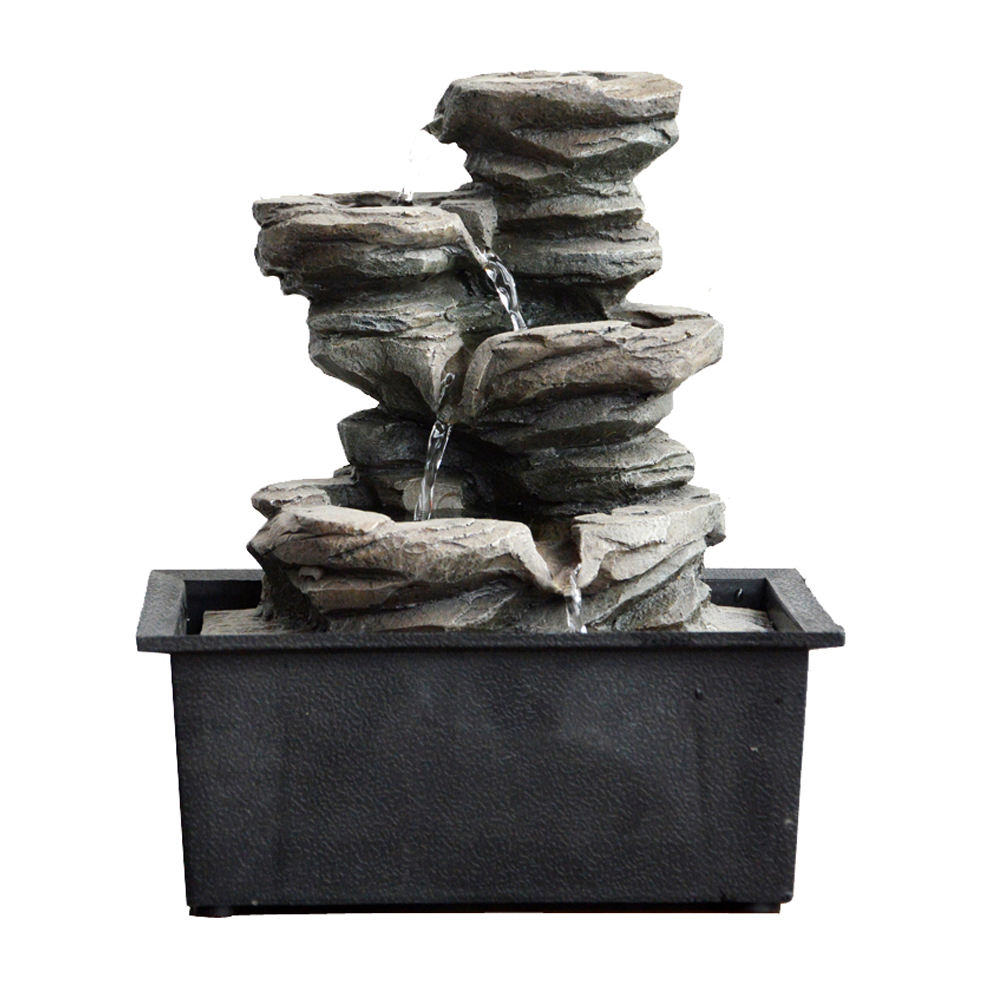 Rock Cascading Tabletop Brunnen, Zen Meditation Indoor Wasserfall Funktion mit LED Licht