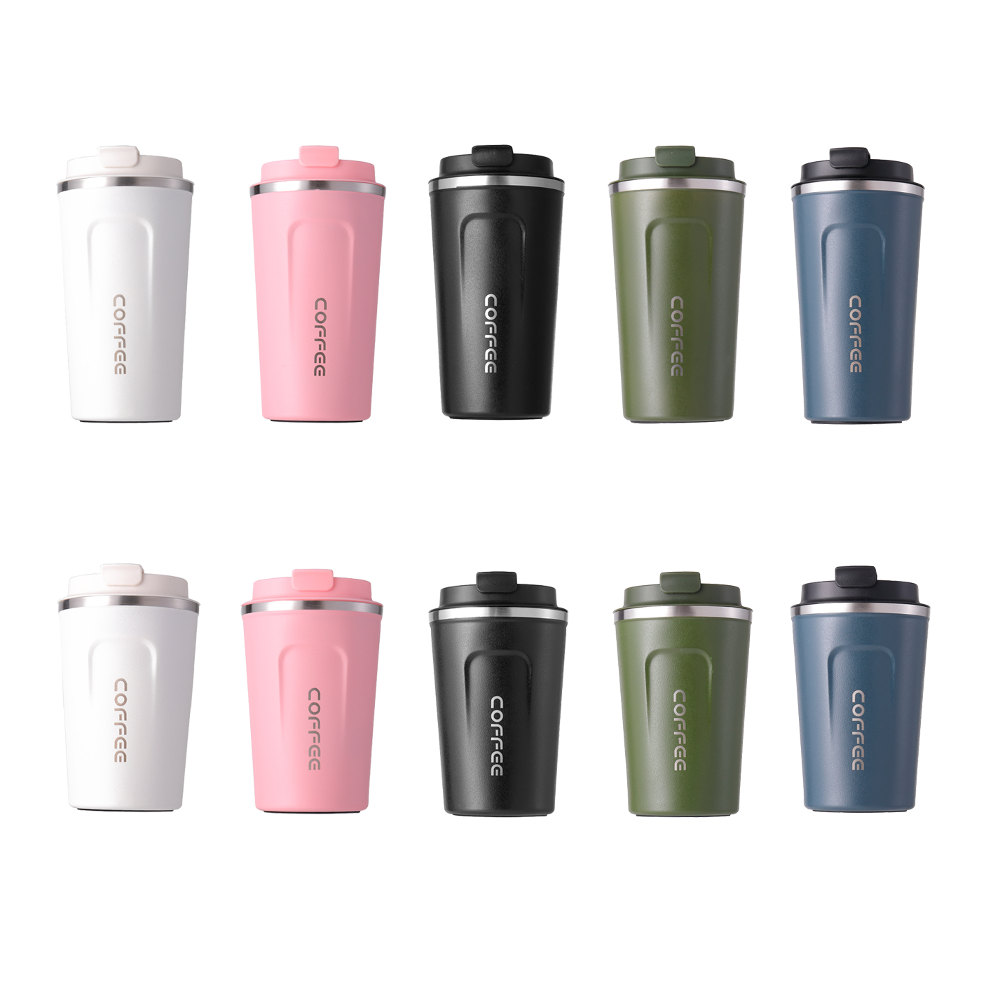 380ml 510ml Eco-friendly Double Walled Stainless Steel Travel Coffee Mug Vacuum Insulated Reusable Coffee Tumbler Cup