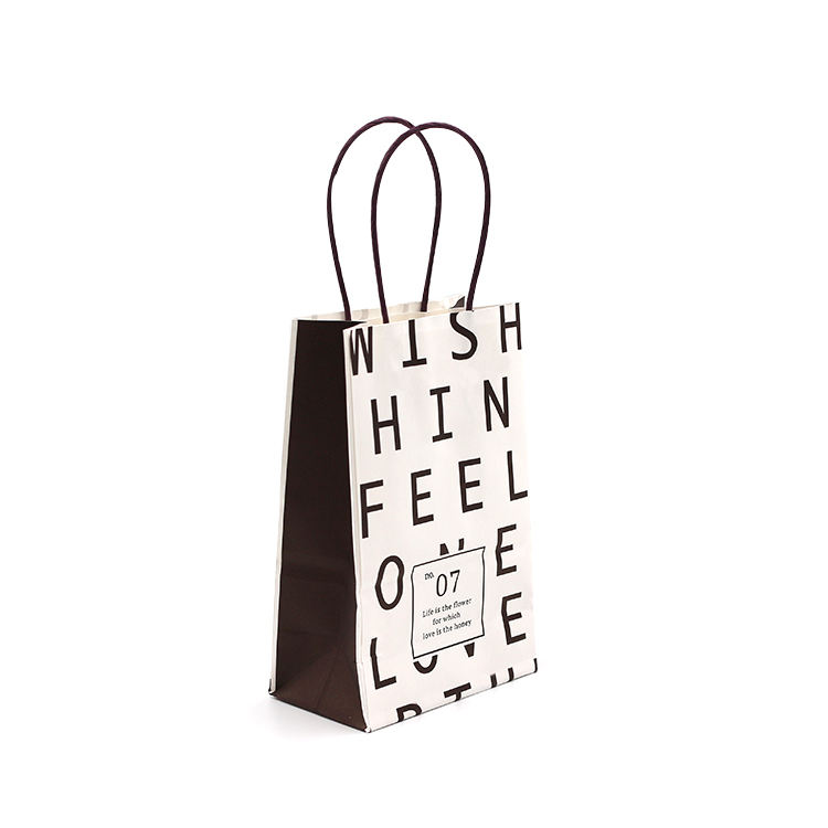 White Luxury Gift Shopping Custom Printed Paper Bags