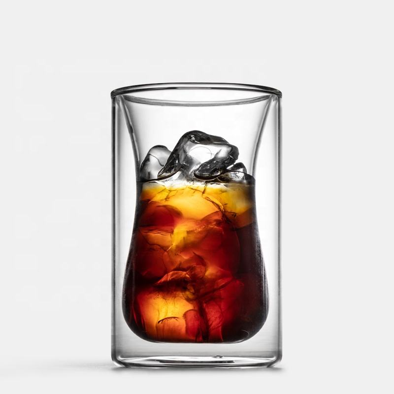 Fabrikant Borosilicate Double Wall Koffie Mok Glas Thee Cup