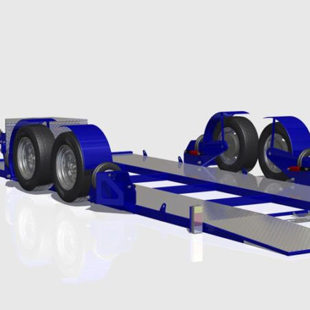 Off road platbed ถุงลมนิรภัย car carrier trailer