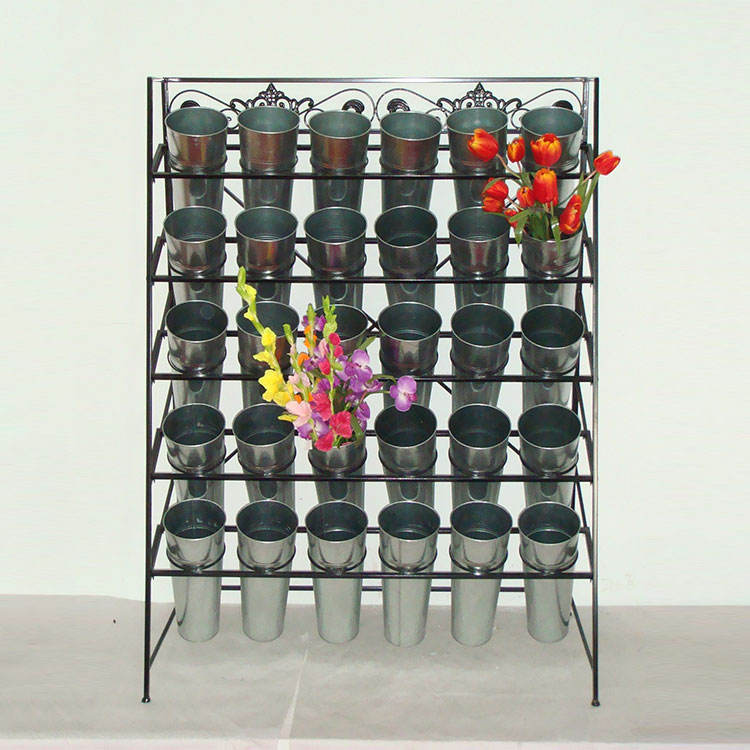 Factory Price Display Metal Iron Tall Flower Pot Display Stand