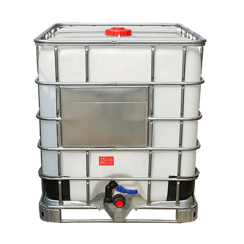 Low price 1000l food grade liquid plastic ibc mixer recycle intermediate bulk container used ibc tote tank with steel cage