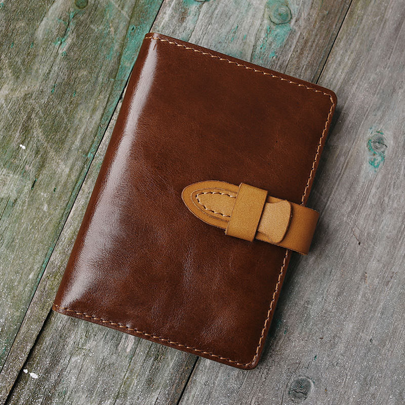Customizable fashion retro leather simple card package