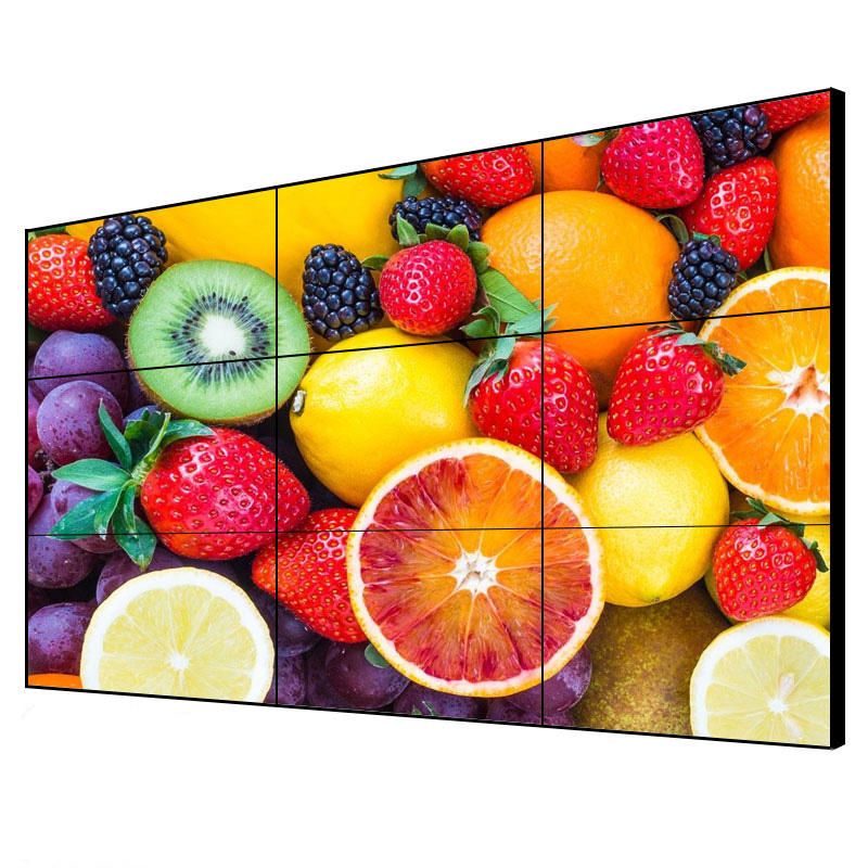 49 55 inch 3.5 1.8mm ultra narrow bezel DID lcd video wall LG panel indoor full color multi screen for advertising