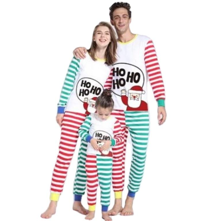 Women men babies boys girls family christmas clothing pajamas set family matching clothes xmas