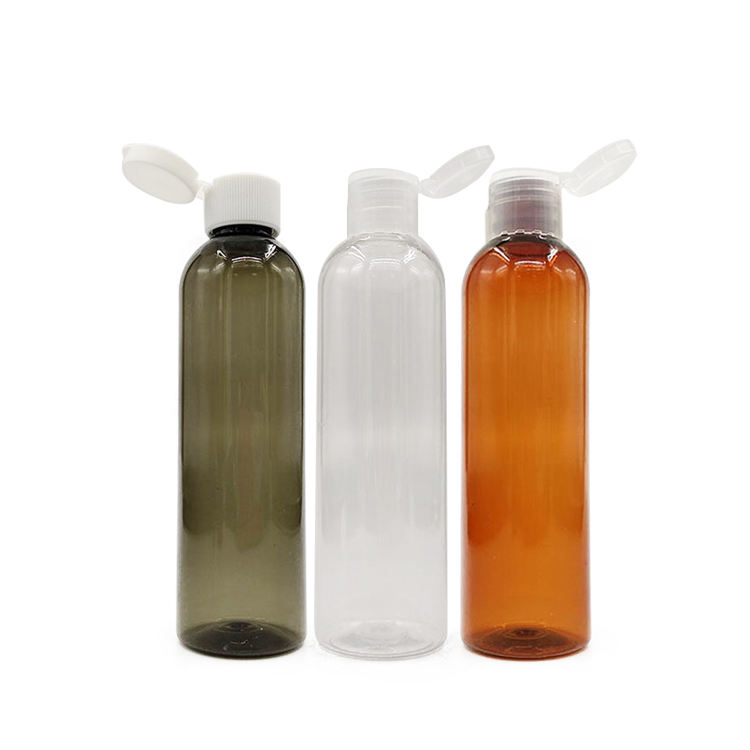 4oz 120 ml cosmetic oil flip top make up 120ml lotion pet plastic bottle