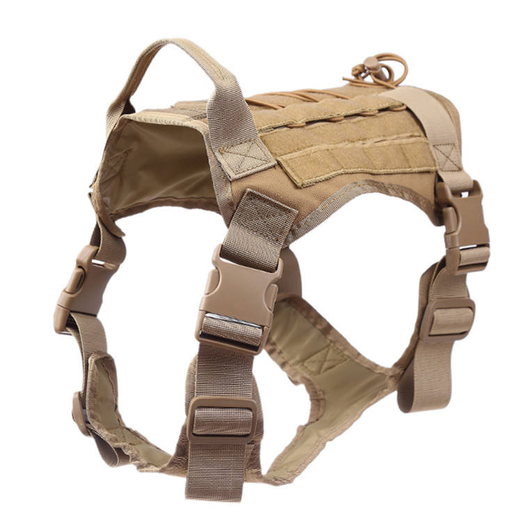 Tactical Dog Harness Training Dog Vest, No Pulling Front Clip Leash Attachment