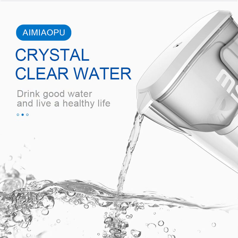 Family Activated Carbon Portable Home Glass Water Filter Kettle