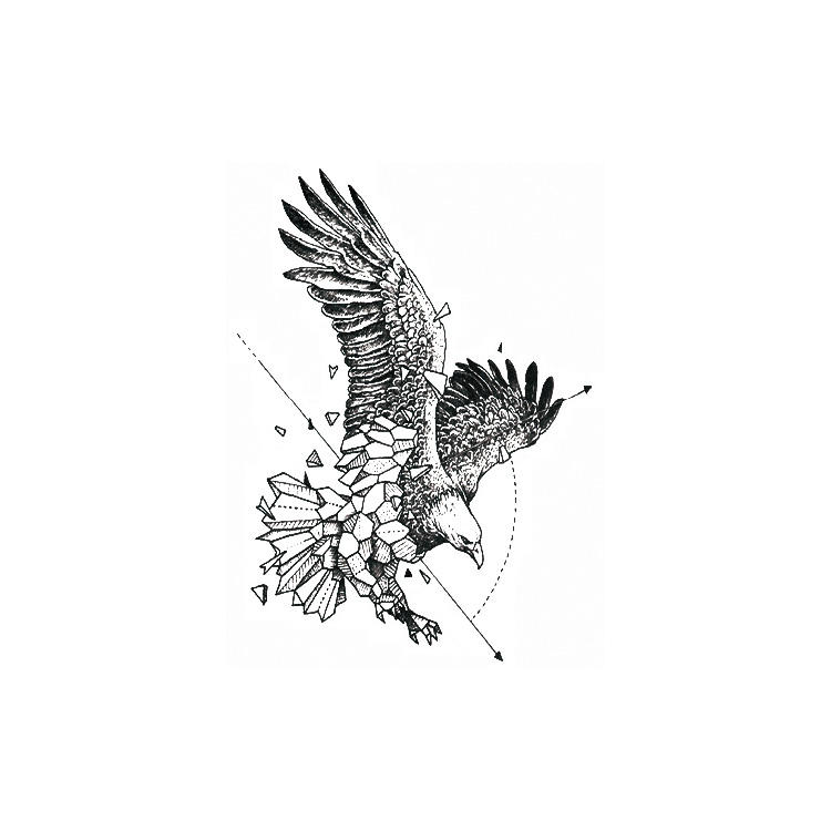 Artificial Eagle Arm Temporary Body Tattoo Sticker Animal Tattoo