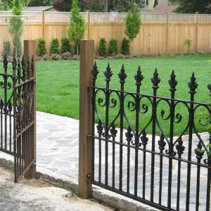 Best selling  ISO9001 Factory  wrought iron fences and gates  wrought iron fence panels and gates iron fence and gate design
