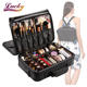 Large Makeup Case 3 Layers Makeup Bag Organizer Waterproof Travel Cosmetic Case Box Portable Train Cases for Cosmetics Black