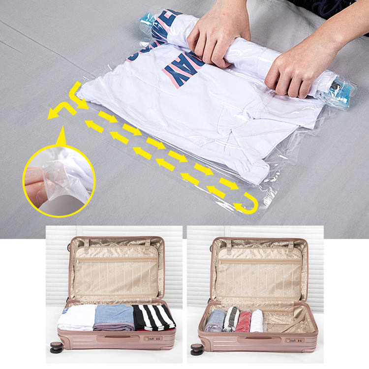 Travel Roll Up Bag Vacuum Storage Bag Space Travel Bags For Clothes