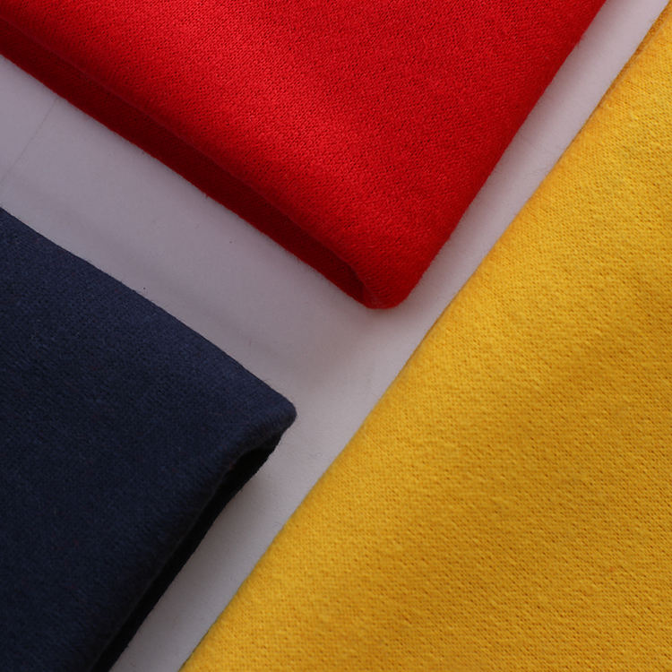 Wholesale polyester sandng poly cotton knit fleece fabrics fabric for garment