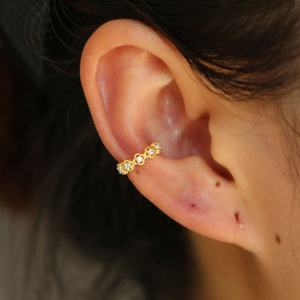 elegance lace ear cuff 925 sterling silver gold plated factory drop shipping no piercing cuff earring