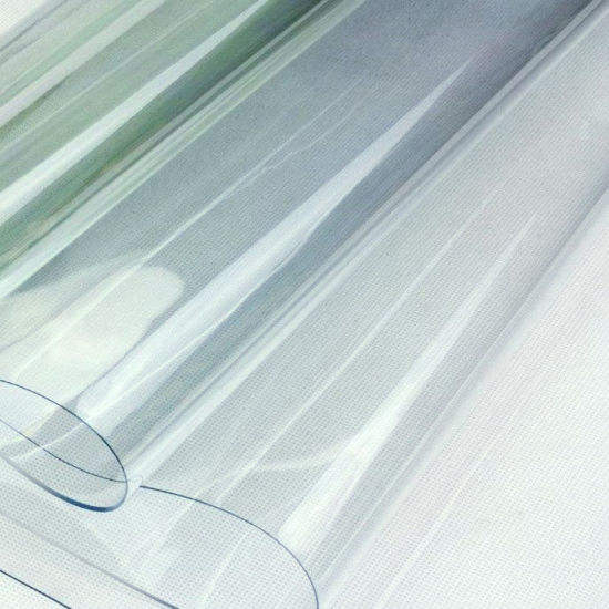Waterproof Crystal Glass Transparent PVC Clear Vinyl fabric