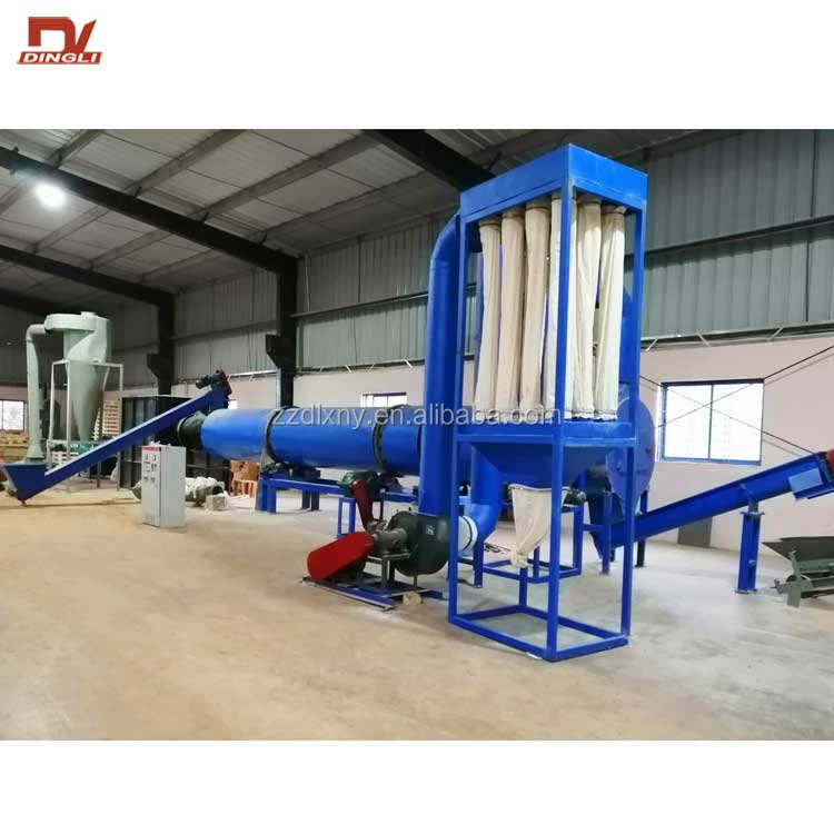 Wood Chip Sawdust Rotary Drum Drying Dryer Machine for Hot Sale
