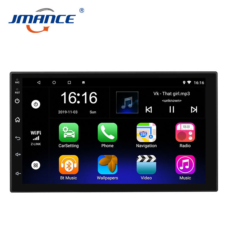 Touch Screen Digital 45W Double Din Android Auto Head Unit Universal 7inch 2din Wifi Gps Car Radio With Dvd