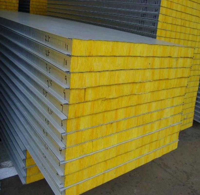 50mm/75mm/100mm Fiberglass Fireproof Sandwich Panel